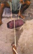 Шлифовка бусин Дзи методом мешка
