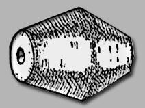 Бусина в форме двойного конуса