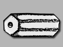 Бусина в форме шестиугольной трубки
