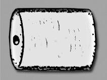 Бусина в форме цилиндра