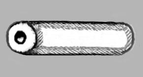 Бусина в форме трубки