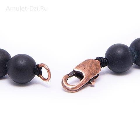 Металлическая застежка для браслетов с бусинами Дзи