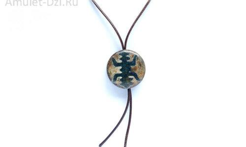 Бусина Дзи «Фелисити» (насекомое) в виде кулона