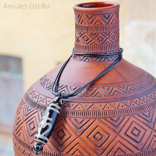 Бусина Дзи «Сосуд долголетия» в виде кулона