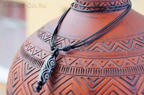 Бусина Дзи «Глаза дракона» в виде кулона