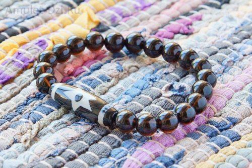 Бусина Дзи «Вселенная» в браслете из мориона
